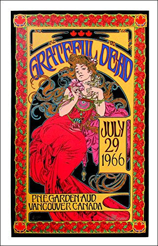 (Grateful Dead Poster July 1966/2016 Record Store Day Edition AP Hand-Signed by Bob Masse)