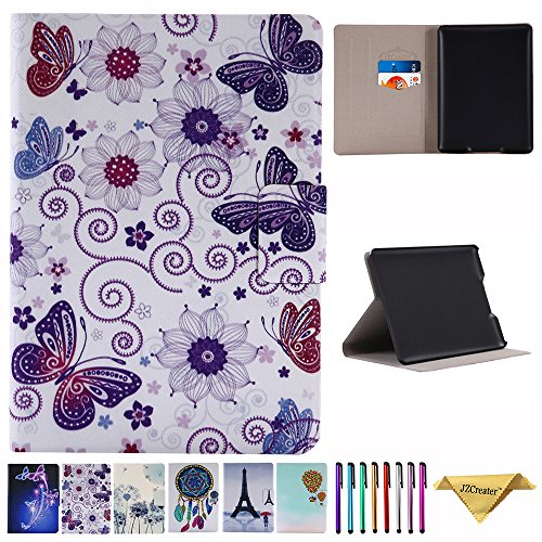 JZCreater Case For Kindle Paperwhite,Ultra Slim PU Leather Smart Case Build in Magnetic with [Auto Sleep/Wake Function] for Amazon New Kindle Paperwhite 2015 2014 2013 2012 6'' E-reader, Butterfly