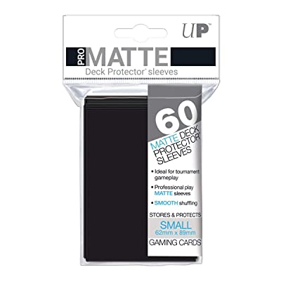 Ultra Pro 60ct Pro-Matte Black Small Deck Protectors, black, small: Sports & Outdoors [5Bkhe0705758]