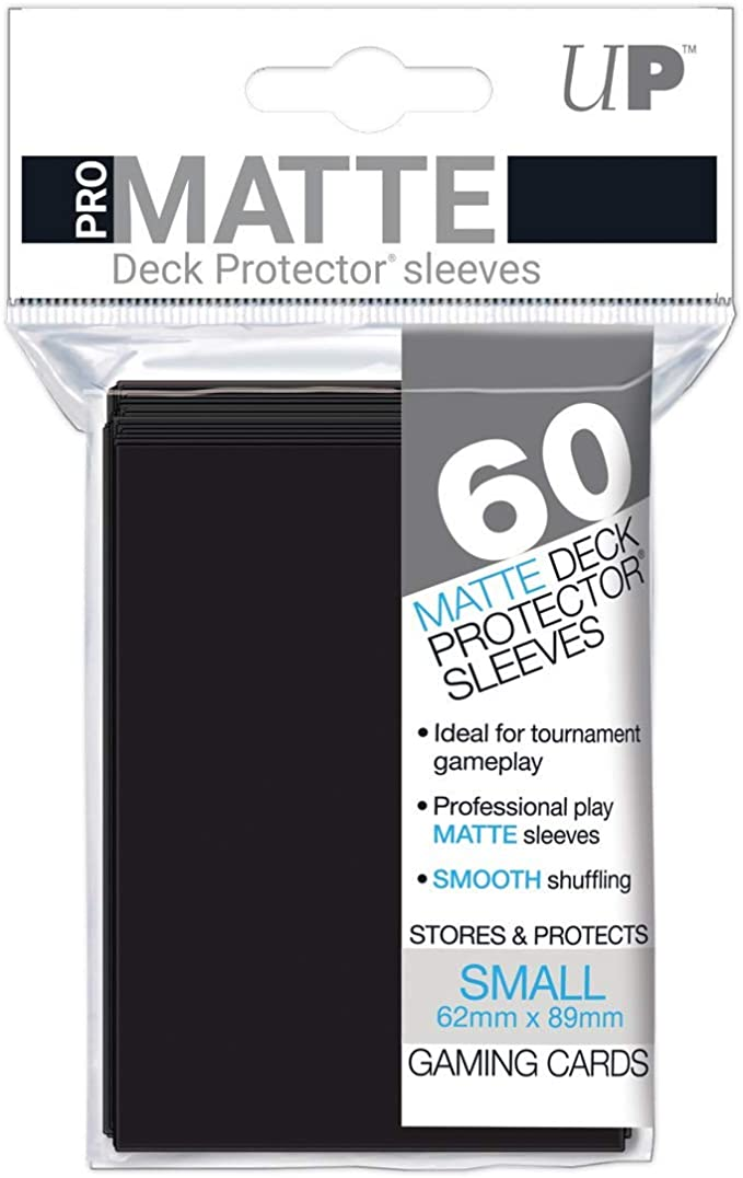 120 Ultra Pro Deck Protector Card Sleeves Black Small Yugioh Vanguard NEW