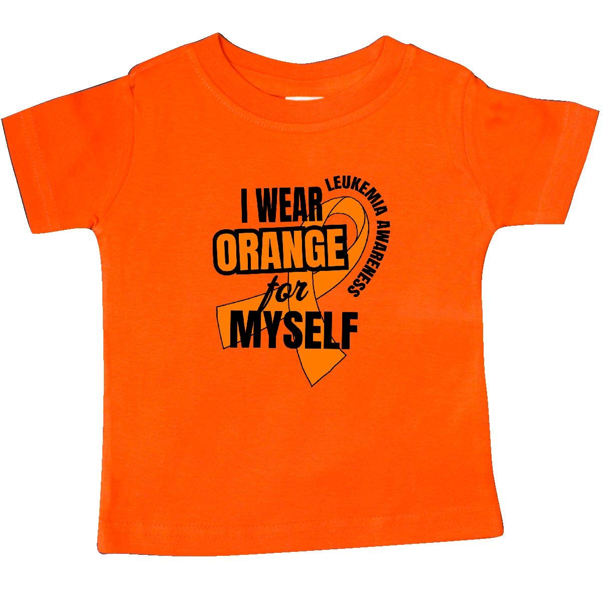 inktastic I Wear Orange for Myself Leukemia Awareness Baby T-Shirt