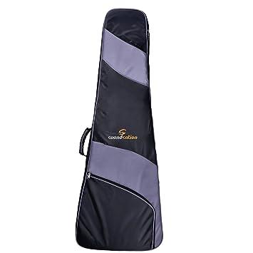 Soundsation PGB-Flyng V Funda para guitarra eléctrica 120 x 48 x 10 cm, color negro/gris: Amazon.es: Instrumentos musicales
