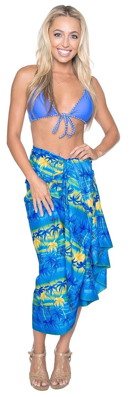 LA LEELA Womens Swimsuit Cover Up Beach Wrap Skirt Sarong Beach Wraps Full Long