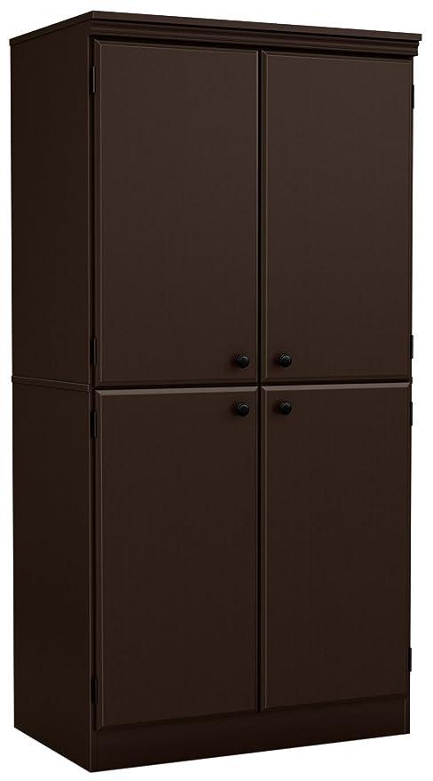 Merveilleux South Shore Morgan 4 Door Storage Cabinet, Chocolate