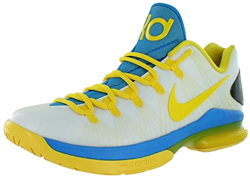 68ac82023e6 Nike Men s KD V Elite Kevin Durant Shoes in Transparent Rubber and Yellow  and Blue Lenses