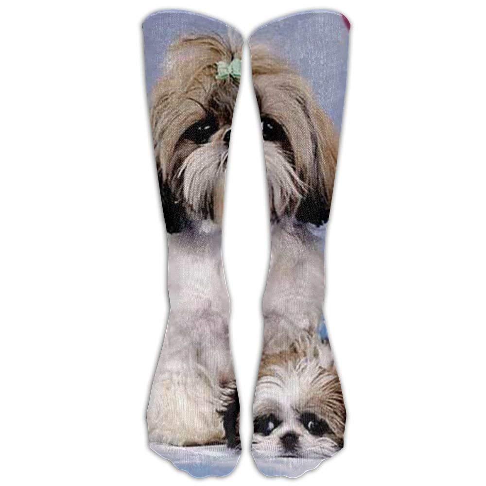 Long Shih Tzu Socks Women's Winter Vintage Cotton Wool Knit Long Crew Socks Showe&home