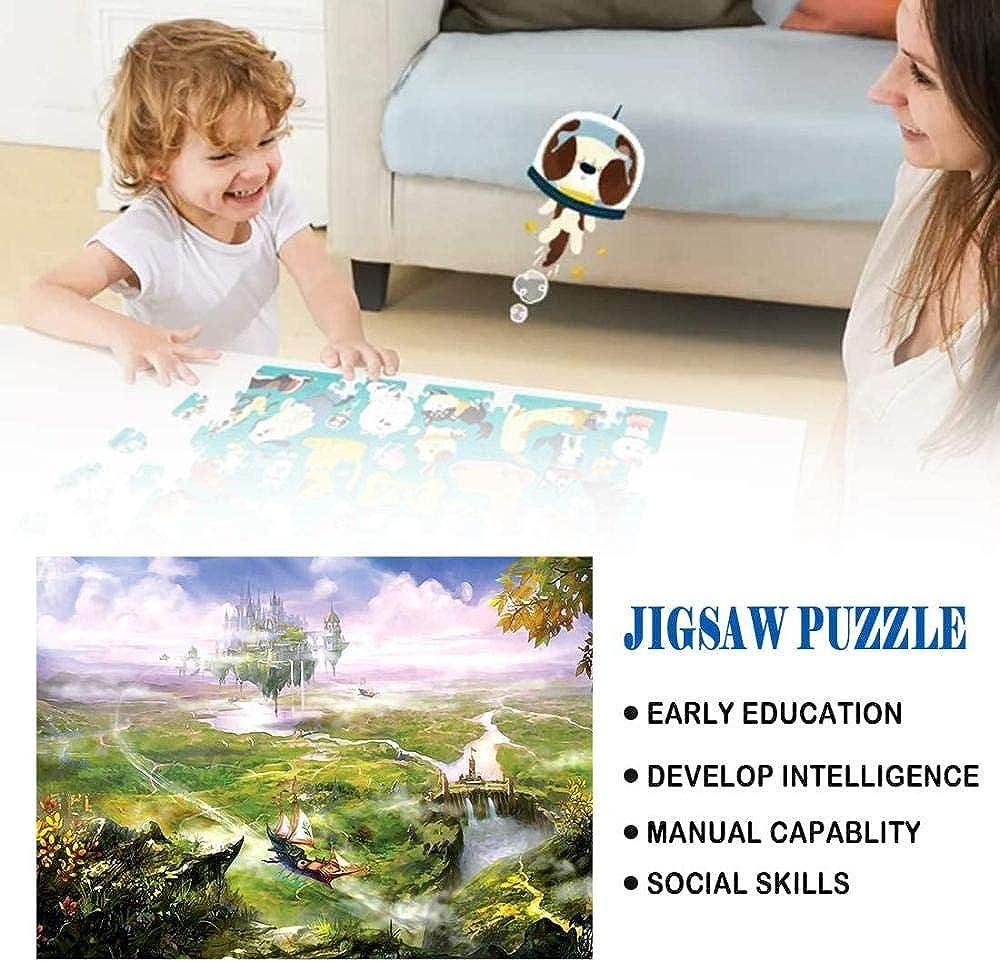 GbksmmPuzzles 1000 Stück Für Erwachsene Kinder Castle in the Sky