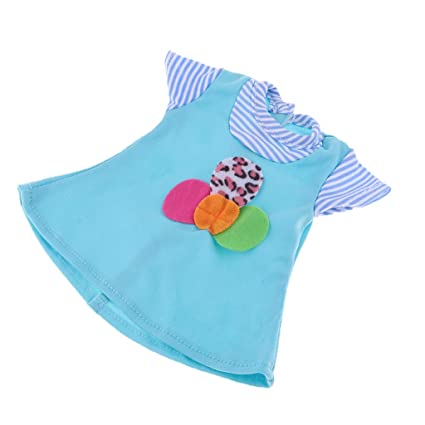 d1f27971dc3e Amazon.com  B Blesiya Stylish Cotton Blue Dress for MellChan Baby 9 ...