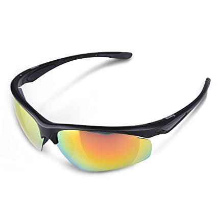 bf66b63c1f4 FREETOO Sports Polarized Sunglasses Sun Glasses for Men Women Cycling  Running Driving Fishing Golf TR 90
