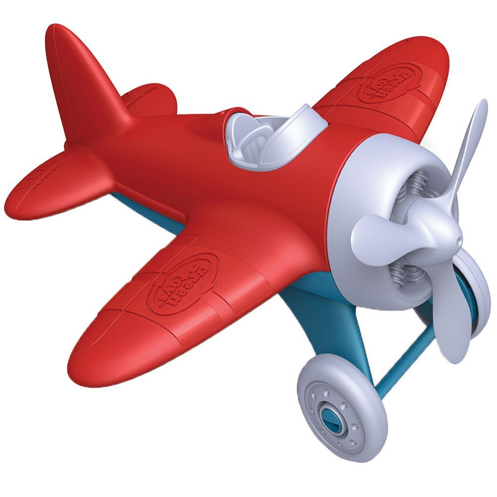 Green Toys Airplane - BPA Free, Phthalates Free, Red Aero Plane for Improving Aeronautical Knowledge of Children. Toys and Games