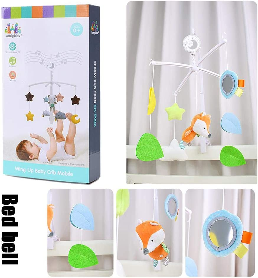 Baby Musical Cot Mobile Crib Mobile Toy Hanging Rattles Rotating Projection for Baby Shower Gift