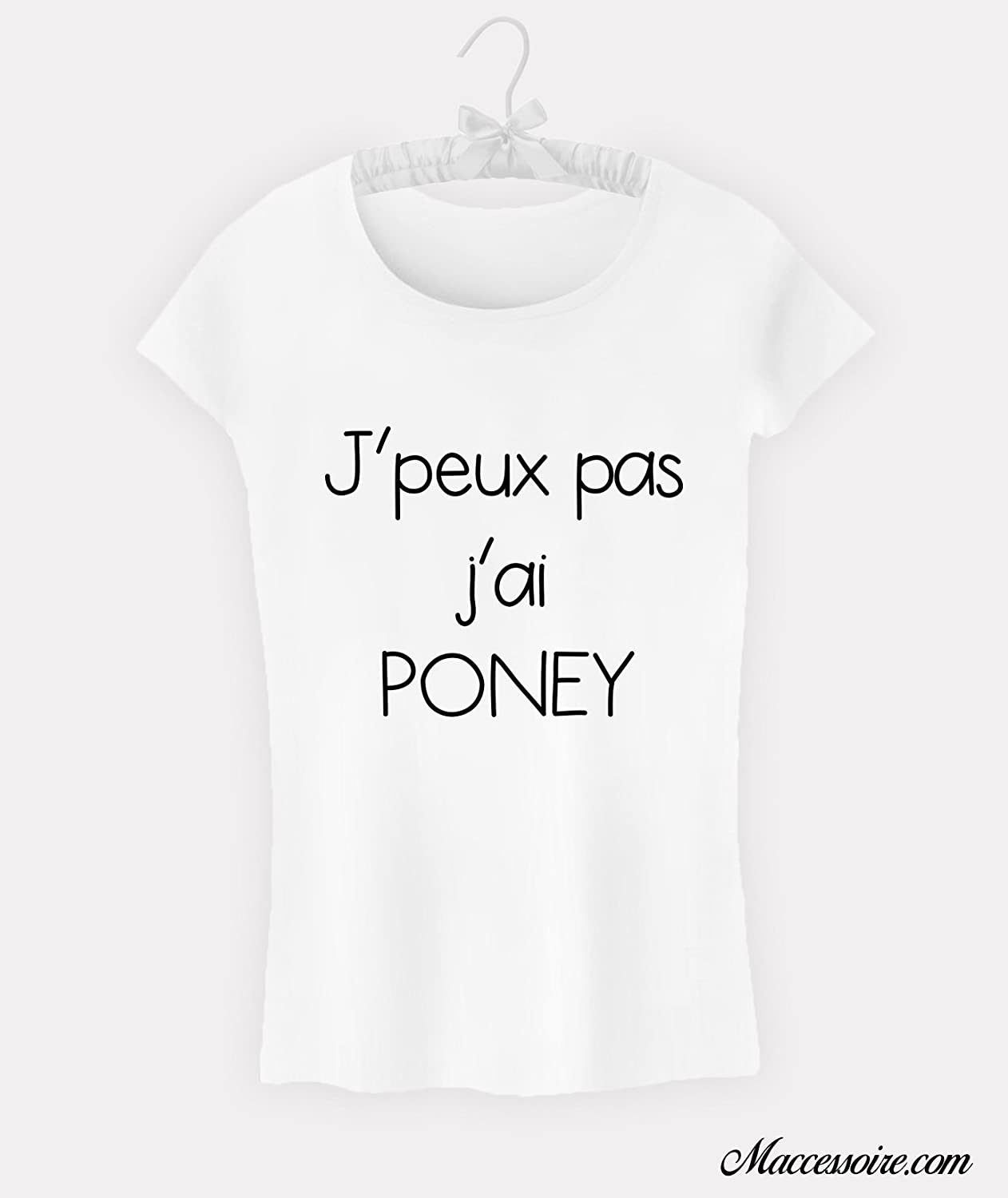 T-Shirt Femme Citation J'peux pas j'ai poney