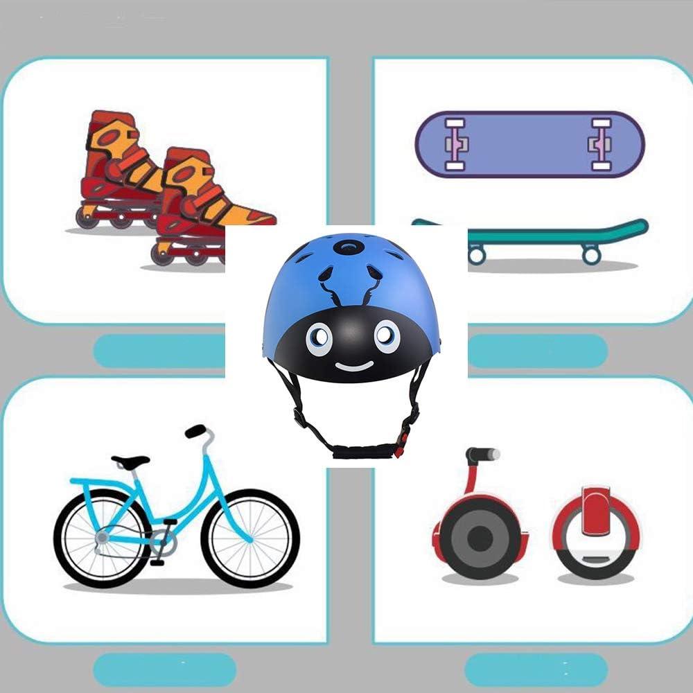 Juego de Equipo de protecci/ón para ni/ños y ni/ñas Casco para ni/ños y Coderas mu/ñequeras para Patinete monopat/ín 3 /– 8 a/ños SLA-SHOP Equipo de Seguridad para Deportes al Aire Libre Bicicleta