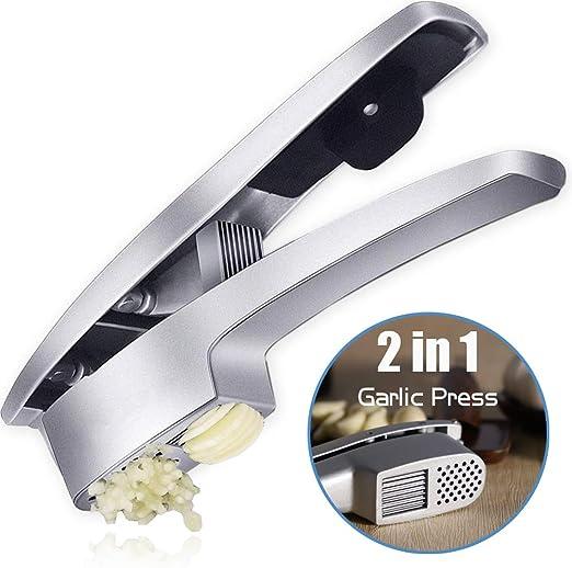 Garlic Mince and Garlic Slice Aluminum Alloy Garlic Press Crushing Machine New
