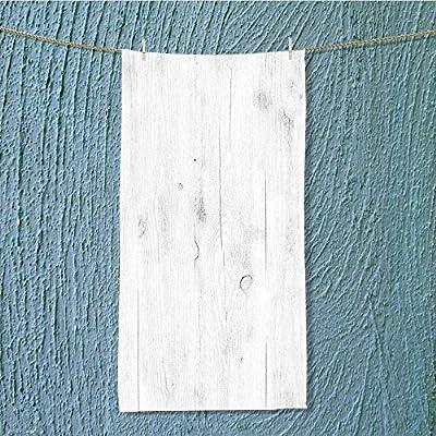 L-QN swim towel white soft wood surface as background Super Soft W7.9 x H23.6 INCH