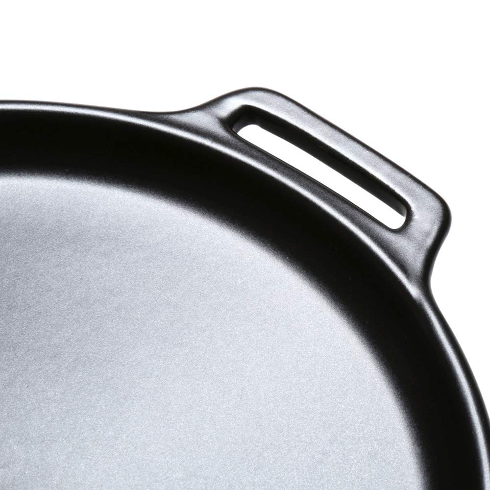 Casserole, pan made of ceramics   steak pizza baking tray   suitable for induction   diameter 29 2.5cm round, uncoated pot heat resistant 800 ° C,322.5CM by DOKJ (Image #4)