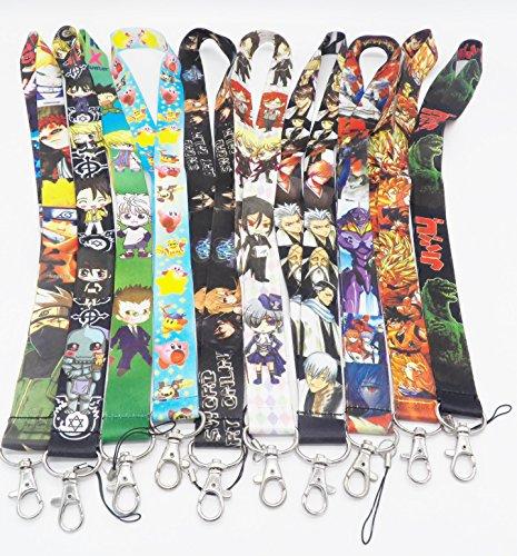 10 Assorted Anime Kirby Fullmetal Alchemist Phone Key Chain Strap LANYARD Set #46
