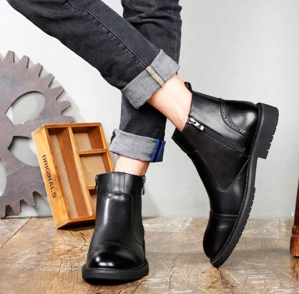Men's Men's Men's Tooling Boots Chelsea Boots Martin Boots Men's Trend Men's Boots Lazy Boots Men's Shoes (Color : Plus Velvet Black, Size : 41) B07H5CYCT9 Chelsea 3b679d