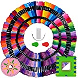 LE PAON Embroidery Floss Embroidery Thread 100 skeins 100%Long-StapleCotton Cross Stitch Threads Friendship Bracelet String Craft Floss with Free Set of 10 Pcs Embroidery Tool Kits