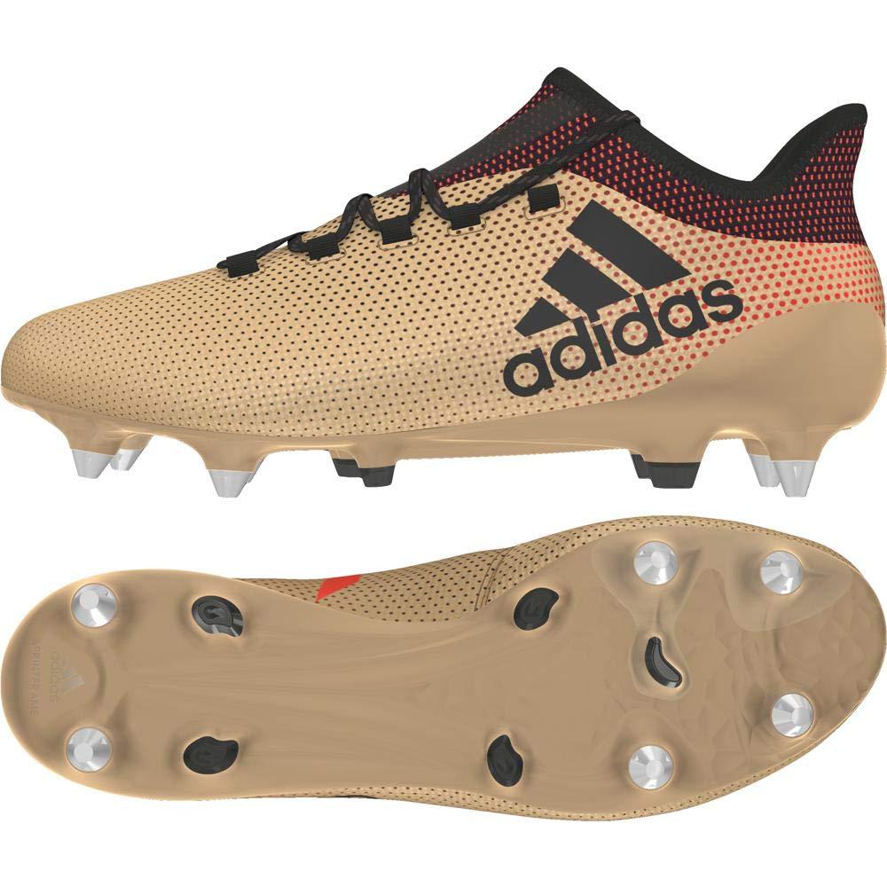 Or (Tagome Cnoir Solrouge Tagome Cnoir Solrouge) adidas X 17.1 SG, Chaussures de Football Homme 48 2 3 EU