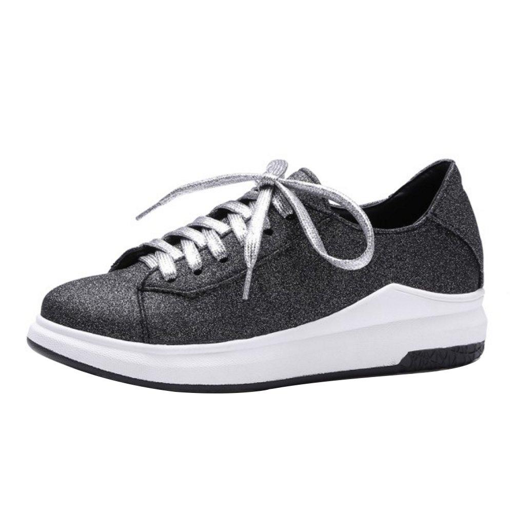 COOLCEPT Donna Moda Forma Piatta Sneaker Pumps Nero