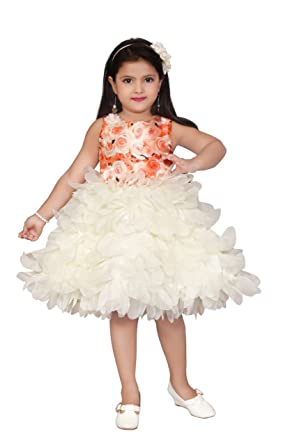 e185edd5a Apna Baby Girls Party Frock Party Dress for Multicolour (White