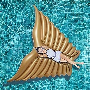 Jasonwell Ala de Ángel hinchable colchonetas piscina Inflable flotador piscina para Adultos yNiños Hinchables Juguete Verano Nadar Piscina Agua Anillo Balsa Océano Lago Río Exterior para Niños Adultos Niñas