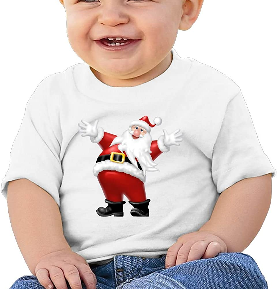 FFWWLHR Santa Claus and Bell Baby Tops T Shirt Unisex Fashion Merry Christmas Cotton Baby Toddler T Shirt Tops