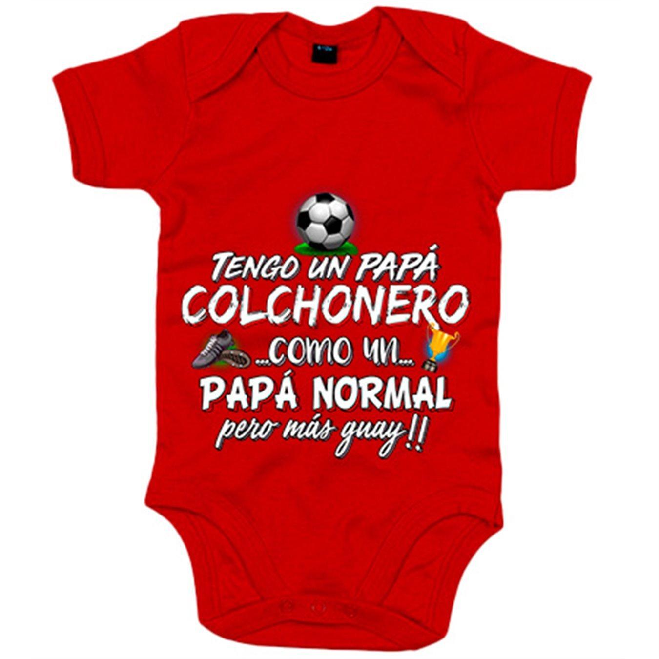 Body bebé tengo un papá Colchonero como un papá normal pero ...
