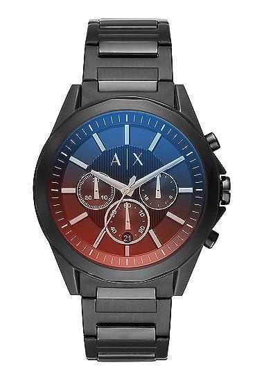 ad3b8351d05d00 Armani Exchange Orologio Cronografo Quarzo Uomo con Cinturino in Acciaio  Inox AX2615: Amazon.it: Orologi