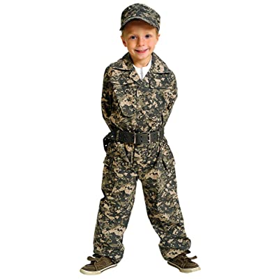 Aeromax Jr. Camouflage Suit with Cap and Belt, Size 2/3: Clothing