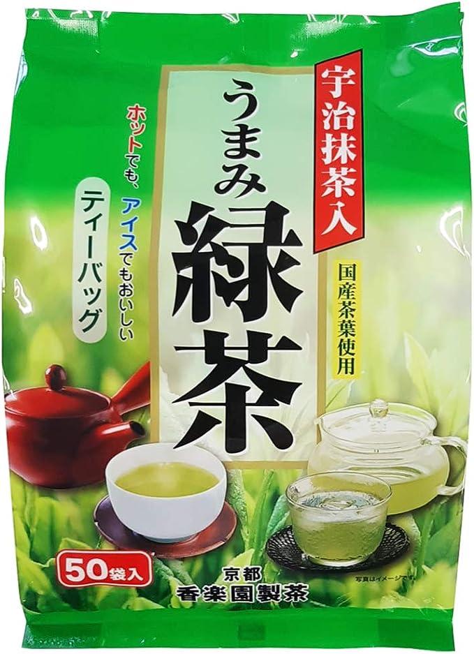 宇治抹茶入 うまみ緑茶 徳用サイズ 125g(50包入) (1)