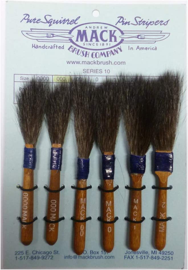 Brosse pour pinstriping Andrew Mack Series 10 Taille 0000