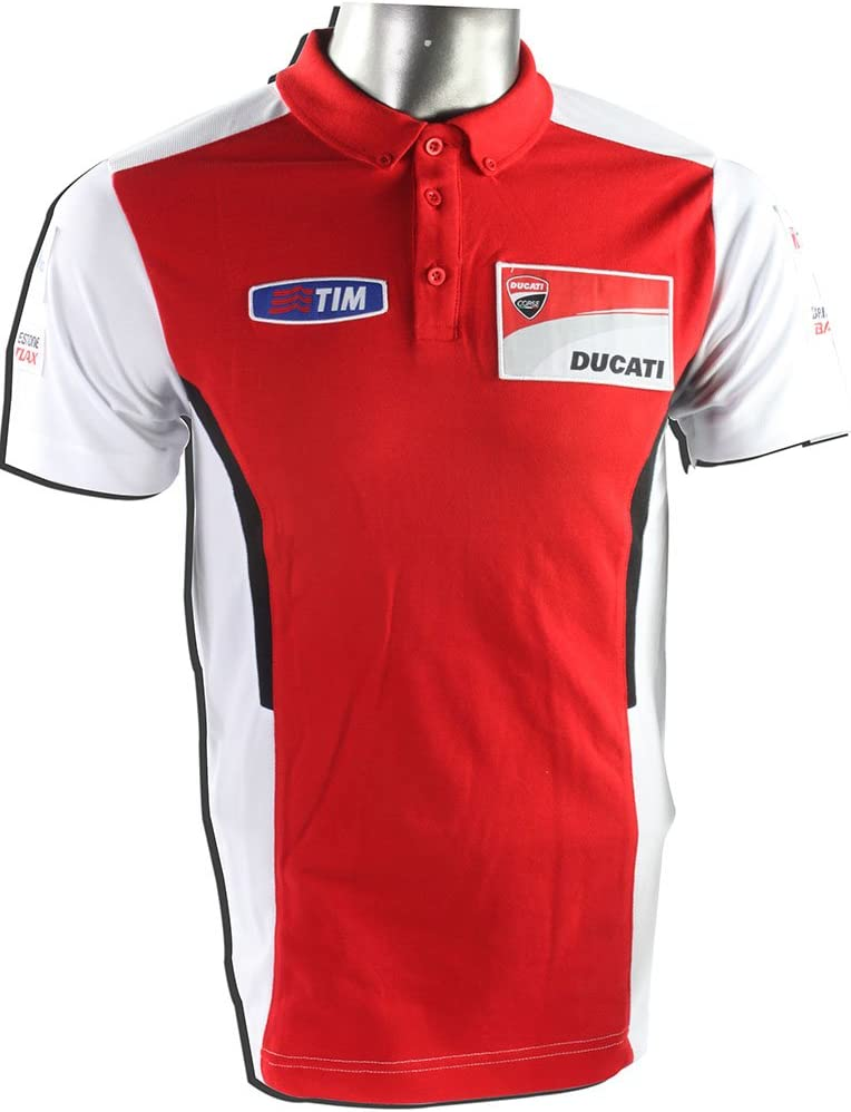 VR46 Ducati MotoGP – Polo, Color Rojo/Blanco: Amazon.es: Deportes ...