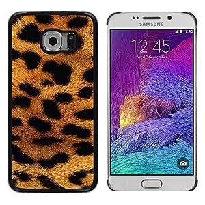 Caucho caso de Shell duro de la cubierta de accesorios de protección BY RAYDREAMMM - Samsung Galaxy S6 EDGE SM-G925 - Africa Animal Pattern Gold