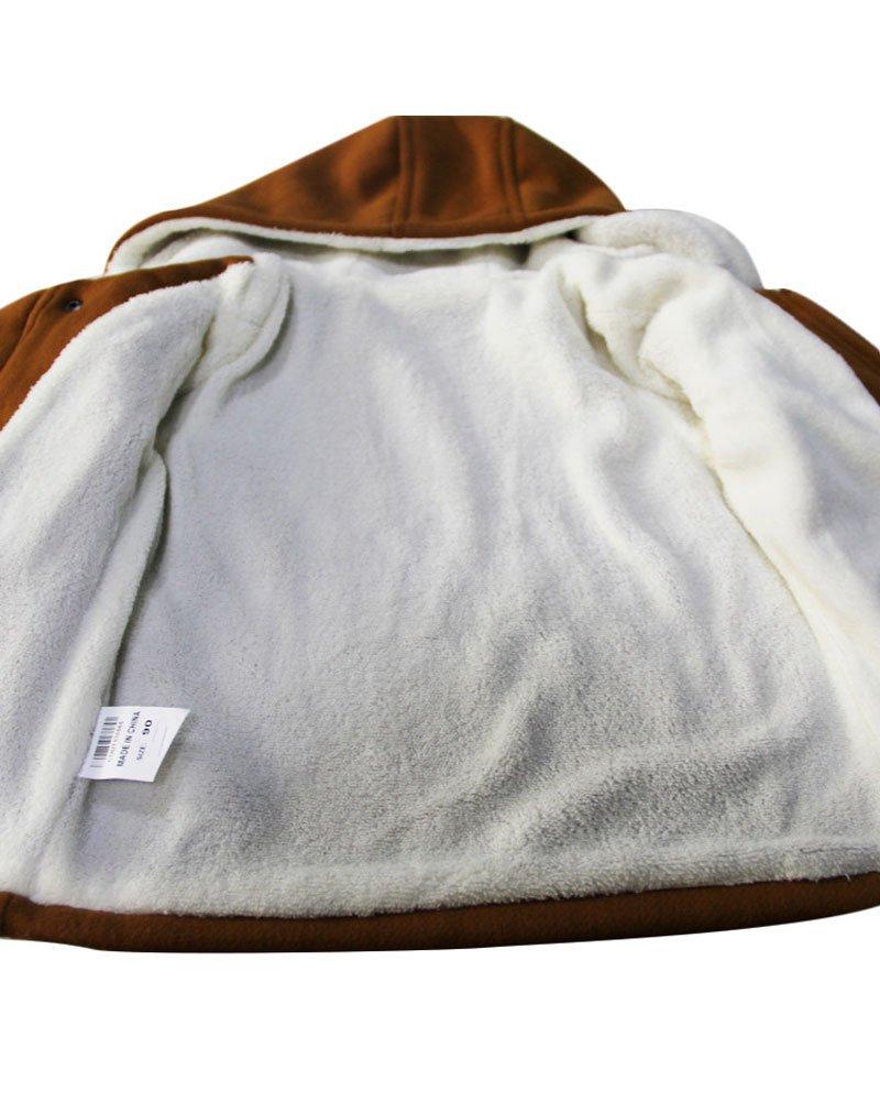 Ekaliy Winter Toddler Boy Kids Fleece Coats Jackets with Hoodies Khaki 4t by Ekaliy (Image #3)