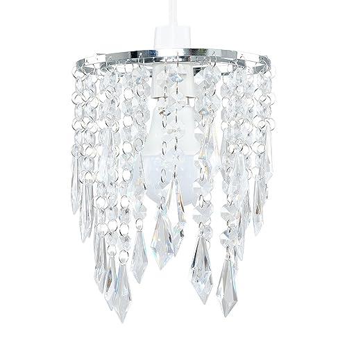 Chandelier lampshade amazon minisun elegant chandelier design ceiling pendant light shade with beautiful clear acrylic jewel effect droplets aloadofball Choice Image