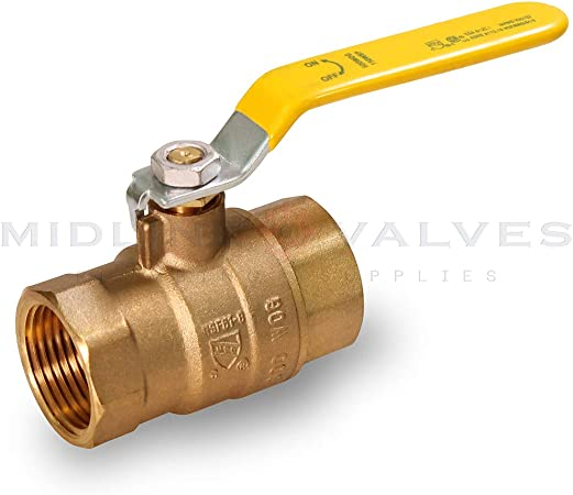 Everflow Supplies 605T114-NL Lead Free Premium Full Port Forged Brass Ball Valve with Female Threaded IPS Connections 1-1//4
