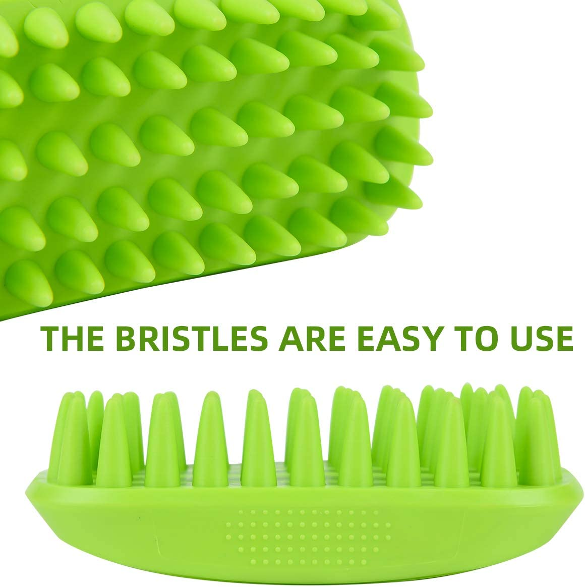 DYAprWu Silicone Pet Bath Brush Massage Grooming Comb for Long /& Short Hair Dogs Cats