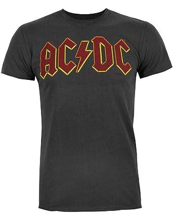 0b8412f19 Amplified AC/DC Logo Men's T-Shirt: Amazon.co.uk: Clothing