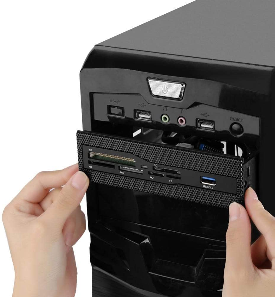 TF Card VBESTLIFE PC Card Reader with 6 Card Slots Support M2 USB 3.0 PC Front Panel for 5.25 Inch Bay SD XD MS CF