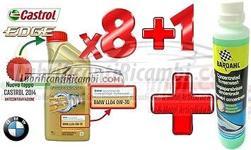 Set de 8 envases de 1 litro de aceite de motor Castrol Edge Titanium Professional BMW ...