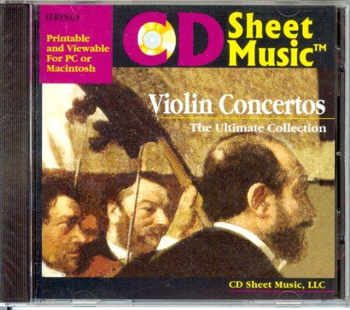 CD Sheet Music: Violin Concertos by CD Sheet Music
