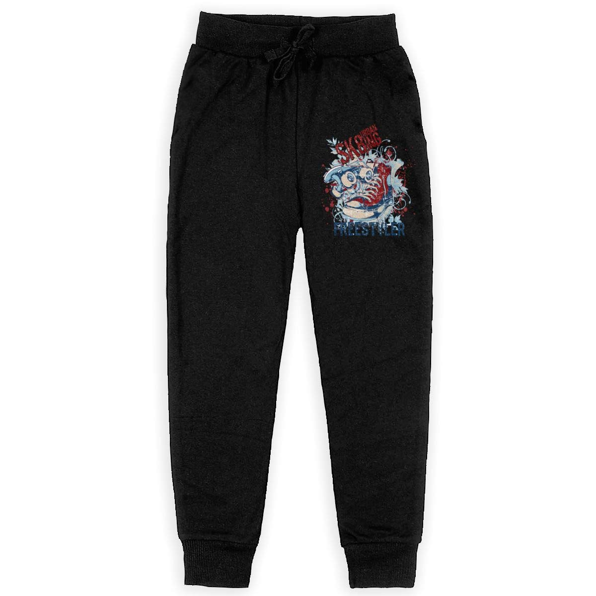 Xinding Youth Casual Training Sweatpants Freestyler Adjustable Waist Trousers with Pocket