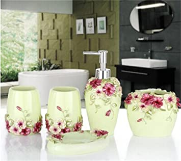 Badezimmer Set Grand Hochzeitsgeschenk rot Creative R ¨ ¦ Sine Bad ...