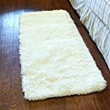Kid Rugs, MBIGM Modern Super Soft Kid Living Room Rugs Decorative Shaggy Floor Carpets for Kids Rooms, 2.6 Feet X 4 Feet, Off-white