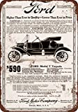 """1912 Ford Model T Torpedo 10"""" x 7"""" Vintage Look Reproduction, used for sale  Delivered anywhere in USA"""