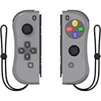 Kinvoca Joy Pad Controller for Nintendo Switch, L/R Switch Controller Replacement, Wired/Wireless Switch Remotes - Deep Gray