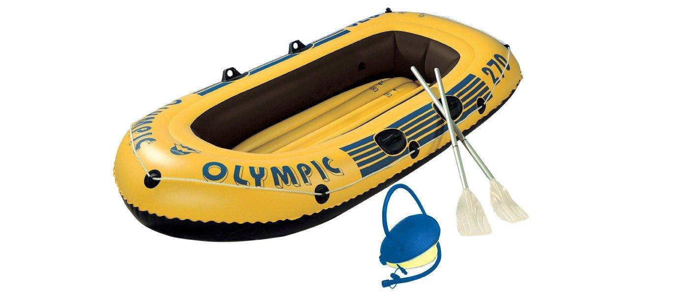 Wehncke 10506 Olympic - 2,5 personas, embarcaciones hinchables con remos y bomba Friedola