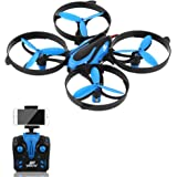 RCtown Drone with HD FPV Camera, Altitude Hold RC Quadcopter with 4 Channel 2.4GHz 6-Gyro, Remote Control, Headless 3D 360° Flips & Rolls, One-key Return Helicopter for Present